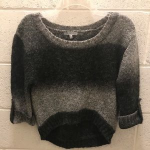 Black & Gray Ombré cropped sweater. Size Med